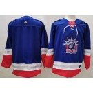 Men's New York Rangers Blank Blue 2021 Reverse Retro Authentic Jersey