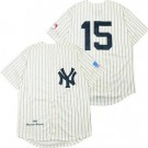 Men's New York Yankees #15 Thurman Munson Cream 1969 Throwback Jersey
