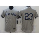 Men's New York Yankees #23 Don Mattingly Gray FlexBase Jersey