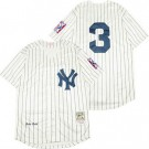 Men's New York Yankees #3 Babe Ruth Cream 1939 Throwback Jersey
