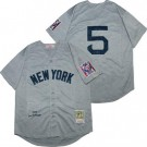 Men's New York Yankees #5 Joe DiMaggio Gray 1939 Throwback Jersey