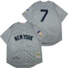 Men's New York Yankees #7 Mickey Mantle Gray 1951 Throwback Jersey