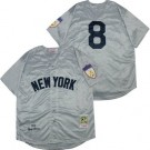 Men's New York Yankees #8 Yogi Berra Gray 1951 Throwback Jersey