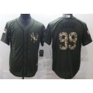 Men's New York Yankees #99 Aaron Judge Green Salute To Service Cool Base Jersey