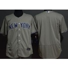 Men's New York Yankees Blank Gray FlexBase Jersey