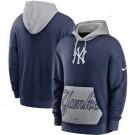 Men's New York Yankees Navy Heritage Tri Blend Pullover Hoodie