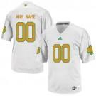Men's Norte Dame Fighting Irish Customized White Yellow College Football Jersey