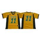 Men's North Dakota State Bison (NDSU) #11 Carson Wentz Yellow College Football Jersey