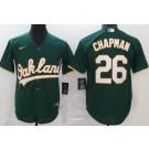 Men's Oakland Athletics #26 Matt Chapman Green 2020 Cool Base Jersey