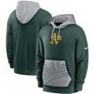 Men's Oakland Athletics Green Heritage Tri Blend Pullover Hoodie