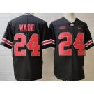 Men's Ohio State Buckeyes #24 Shaun Wade Black College Football Jersey