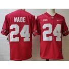 Men's Ohio State Buckeyes #24 Shaun Wade Red College Football Jersey