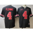 Men's Ohio State Buckeyes #4 Julian Fleming Black College Football Jersey