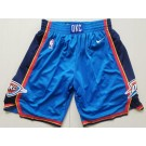 Men's Oklahoma City Thunder Blue Nike Swingman Shorts