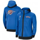 Men's Oklahoma City Thunder Blue Showtime Performance Full Zip Hoodie Jacket