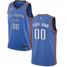 Men's Oklahoma City Thunder Customized Blue Icon Swingman Nike Jersey