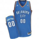 Men's Oklahoma City Thunder Customized Blue Swingman Adidas Jersey