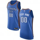 Men's Oklahoma City Thunder Customized Blue Swingman Nike Jersey
