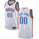 Men's Oklahoma City Thunder Customized White Icon Swingman Nike Jersey