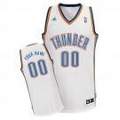 Men's Oklahoma City Thunder Customized White Swingman Adidas Jersey