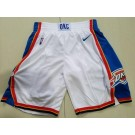 Men's Oklahoma City Thunder White Nike Swingman Shorts