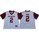 Men's Oklahoma Sooners #2 CeeDee Lamb White 2019 Alternate College Football Jersey