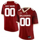 Men's Oklahoma Sooners Customized Limited Red Rush 2019 College Football Jersey