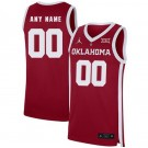 Men's Oklahoma Sooners Customized Red 2019 College Basketball Jersey