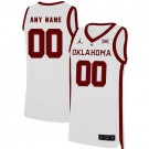Men's Oklahoma Sooners Customized White 2019 College Basketball Jersey