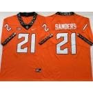 Men's Oklahoma State Cowboys #21 Barry Sanders Orange Rush College Football Jersey