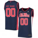Men's Ole Miss Rebels Customized Navy 2019 College Basketball Jersey