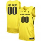 Men's Oregon Ducks Customized Yellow 2019 College Basketball Jersey