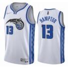 Men's Orlando Magic #13 RJ Hampton White 2021 Earned Icon Hot Press Jersey