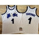 Men's Orlando Magic #1 Penny Hardaway White 1993 Throwback Authentic Jersey