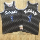 Men's Orlando Magic #1 Tracy McGrady Black 2003 Hollywood Classic Authentic Jersey