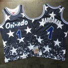 Men's Orlando Magic #1 Penny Hardaway Navy 1994 Independence Day Authentic Jersey