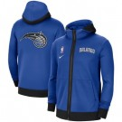 Men's Orlando Magic Blue Showtime Performance Full Zip Hoodie Jacket