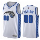 Men's Orlando Magic Custom White 2021 Earned Icon Hot Press Jersey