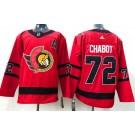 Men's Ottawa Senators #72 Thomas Chabot Red 2021 Reverse Retro Authentic Jersey