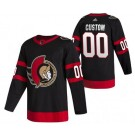 Men's Ottawa Senators Customized Black 2021 Authentic Jersey