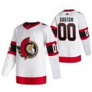 Men's Ottawa Senators Customized White 2021 Authentic Jersey