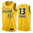 Men's Paul George Yellow 2021 All Star Hot Press Jersey