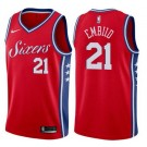Men's Philadelphia 76ers #21 Joel Embiid Red Icon Hot Press Jersey
