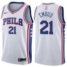 Men's Philadelphia 76ers #21 Joel Embiid White Icon Hot Press Jersey