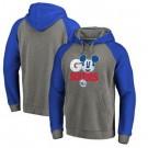 Men's Philadelphia 76ers Gray Blue 1 Printed Pullover Hoodie