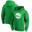 Men's Philadelphia 76ers Green Printed Pullover Hoodie