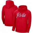 Men's Philadelphia 76ers Red Statement Edition Fleece Pullover Hoodie