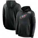 Men's Philadelphia Eagles Black Crucial Catch Sideline Performance Pullover Hoodie