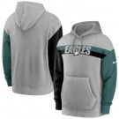 Men's Philadelphia Eagles Gray Heathered Heritage Tri Blend Pullover Hoodie