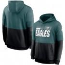 Men's Philadelphia Eagles Green Black Sideline Impact Lockup Performance Pullover Hoodie
